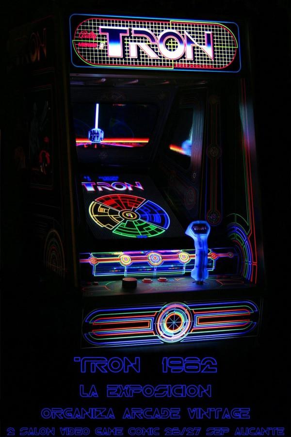 Cartel de la exposición de Tron realizada por Arcade Vintage