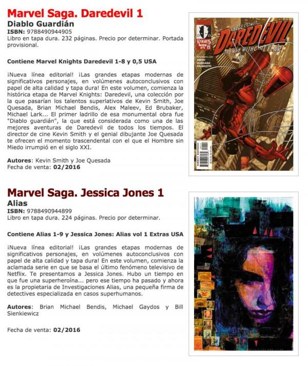 Detalle de los dos primeros volumenes de Marvel Saga.