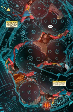 Detalle del trabajo de Adrian Alphona en Ms. Marvel #11