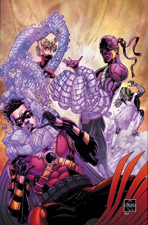 Portada de Teen Titans #17 de Ethan Van Sciver