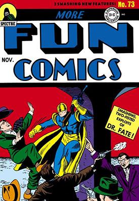 Aunque no estén en la portada aquí debutaron Green Arrow y Aquaman.