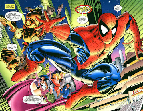 Rick Leonardi y Al Wiliamson recrean la primera aparición de Spider-Man 2099