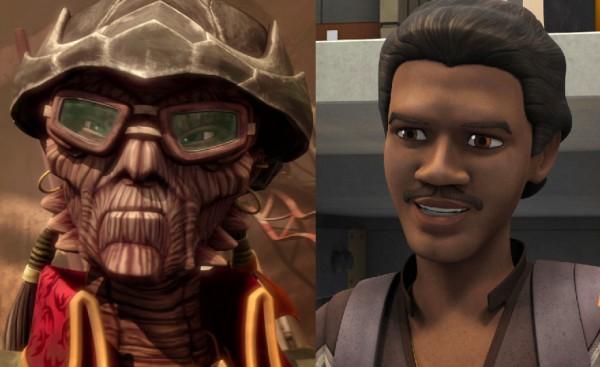 Lando y Hondo, personajes bastante similares, ayudarán y pondrán en aprietos a los protagonistas