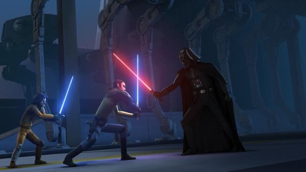 El encuentro entre Ezra y Kanan con Darth Vader demuestra el acercamiento a la vieja trilogía