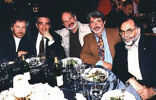 Steven Spielberg, Martin Scorsese, Brian De Palma, George Lucas y Francis Ford Coppola. Historia del Cine alrededor de una mesa.