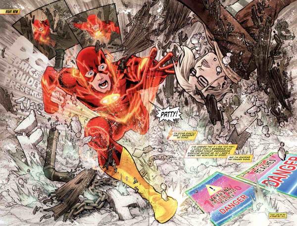 Una de las geniales Splash pages de Francis Manapul en Flash
