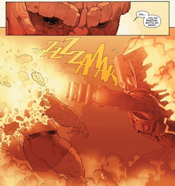 7 - Secret Wars Ben Grimm vs Galactus