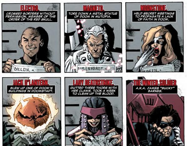 El reparto de Cráneo Rojo, un puñado de criminales contra el régimen de Muerte
