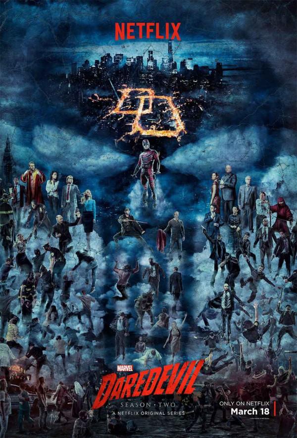 Póster de la segunda temporada de Daredevil
