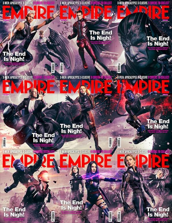 Las portadas de Empire dedicadas a X-Men: Apocalipsis