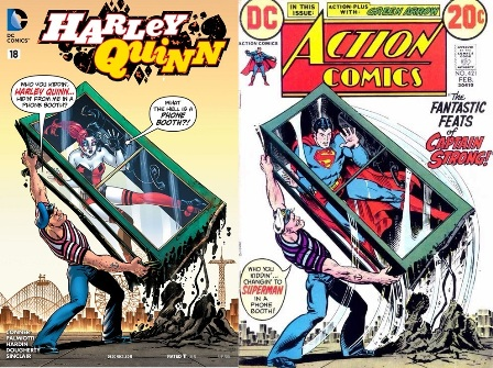 Divertida portada que parodia el mítico Action Comics #421