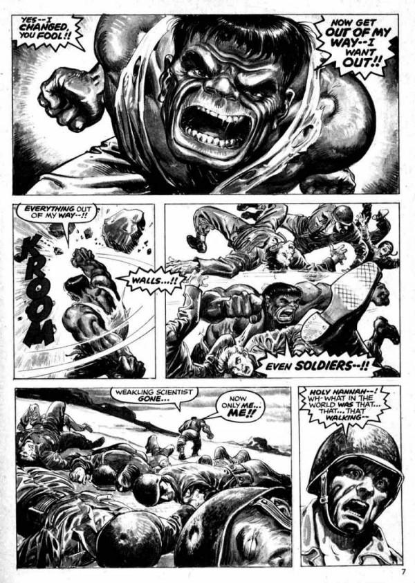 Interior de Rampaging Hulk, obra de Walt Simonson