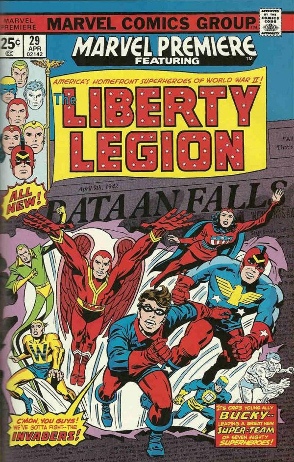 Legión de la Libertad. Portada obra de Jack Kirby