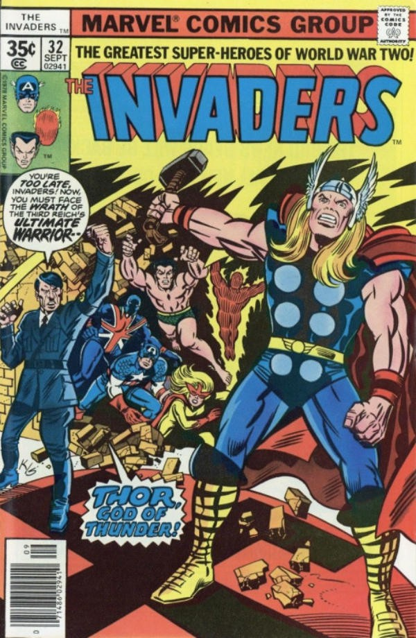Thor seducido por Hitler. Portada obra de Kirby