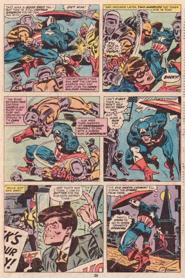 Nasland como el Capitán en lucha contra los androides de Adam II