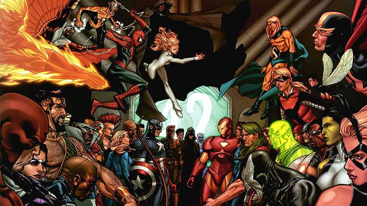 Muchos de los héroes que participan en la Guerra Civil... Imposible que salieran en la película