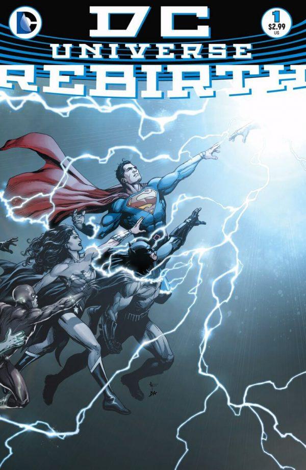 Portada de DC Universe: Rebirth #1, obra de Gary Frank