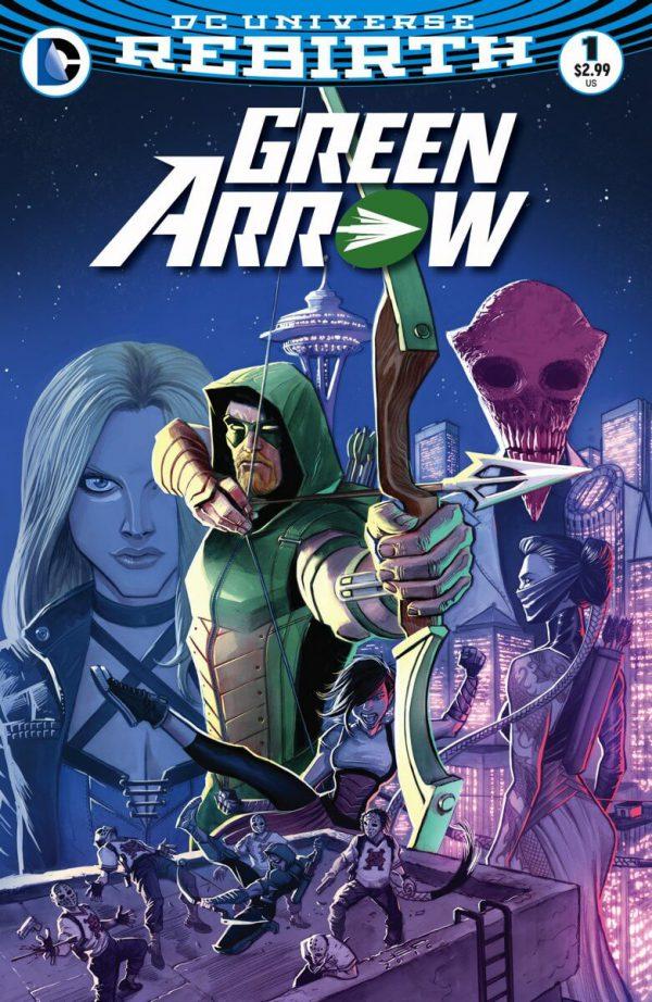 Portada de Green Arrow #1, obra de Juan Ferreyra