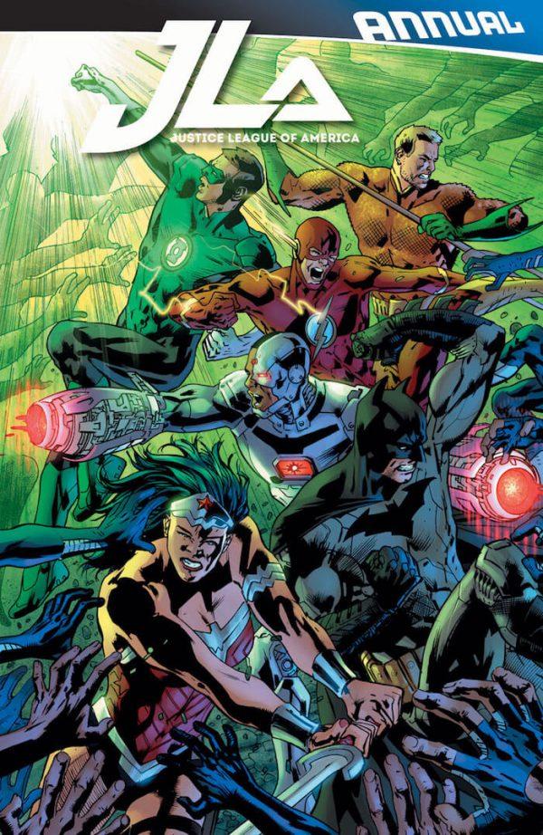 Portada de JLA Annual #1, obra de Bryan Hitch