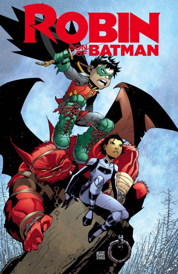 Portada del último número de Robin, Son of Batman #13, obra de Ramon Bachs