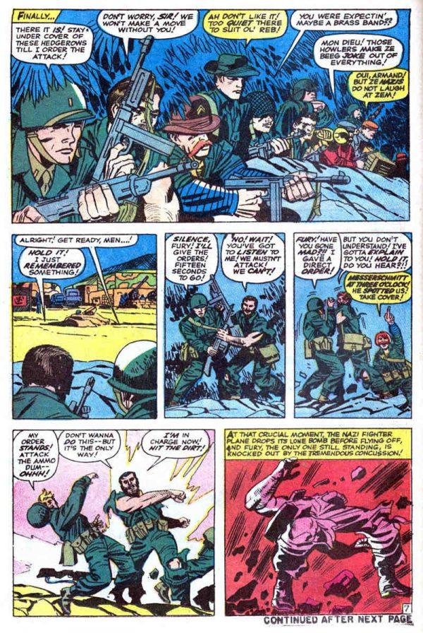 Ejemplo del arte de Jack Kirby en la colección