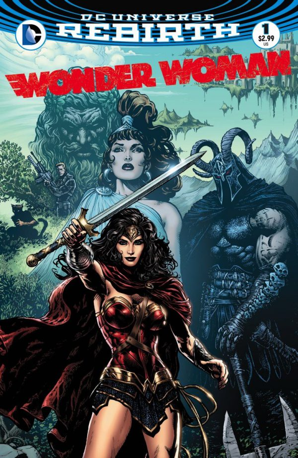 Portada de Wonder Woman #1, obra de Liam Sharp