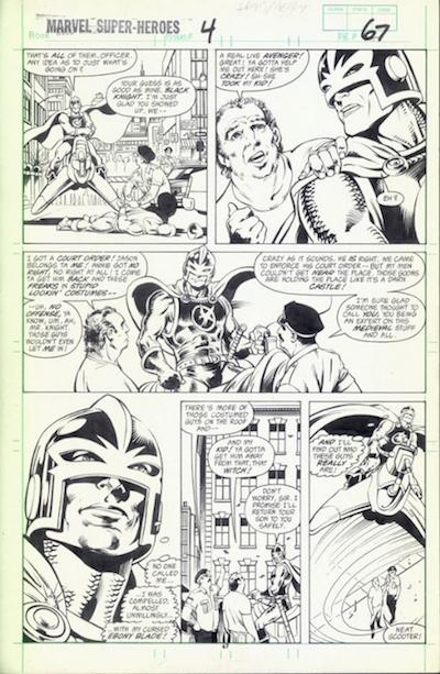 El Caballero Negro, por Alan Davis, Paul Neary y Gregory Wright