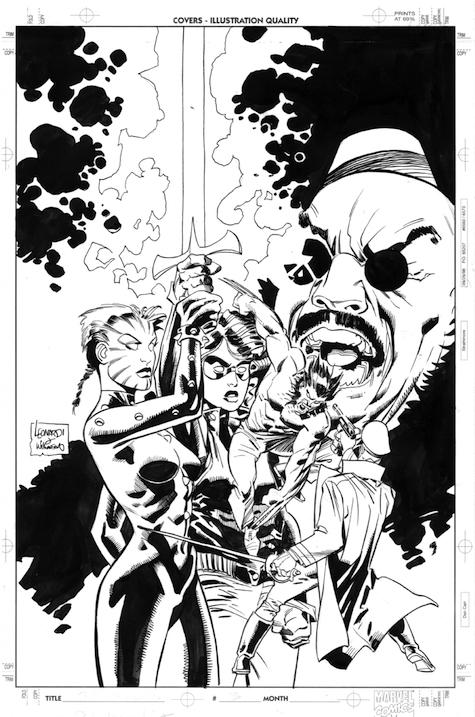 Ilustración de portada de la miniserie