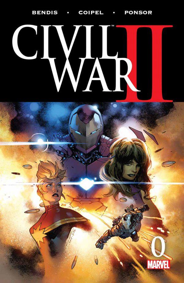 Portada de Civil War II #0