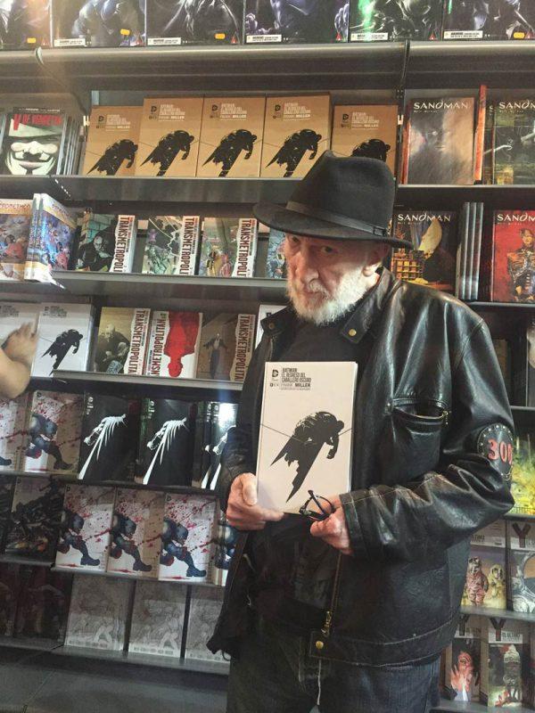 Frank Miller en el stand de ECC Cómics en el pasado Salón internacional del cómic de Barcelona