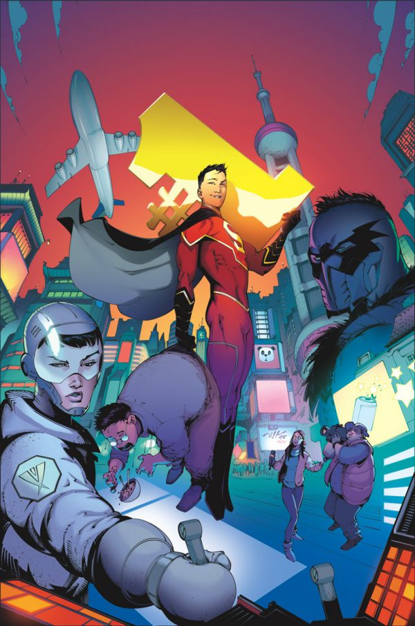 Portada de New Super-Man #1, obra de Victor Vogdanovic