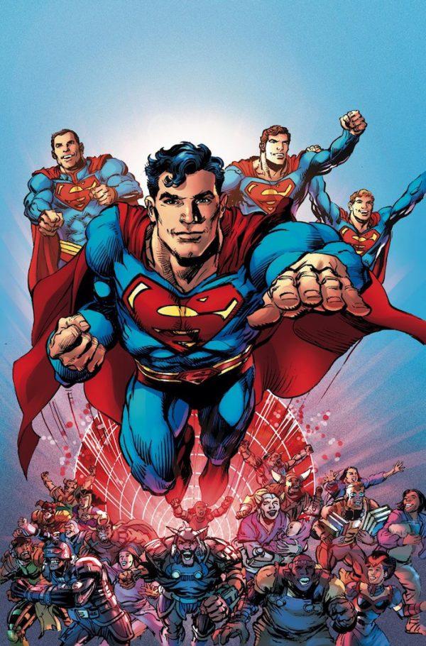 Portada de Superman: The coming of the Supermen, obra de Neal Adams