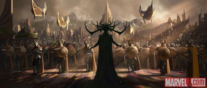 Primer concept-art de Thor: Ragnarok