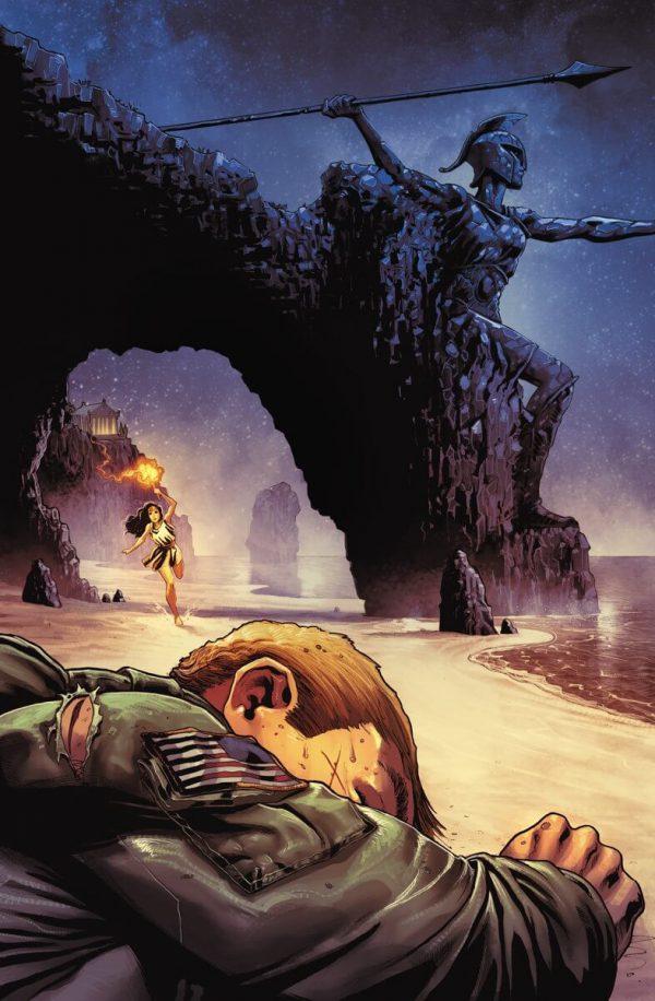 Portada de Wonder Woman #2 (primer número del Año Uno), obra de Nicola Scott)