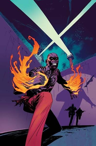 Portada de Suicide Squad Most Wanted: El Diablo and Boomerang #1, obra de Mike Huddleston