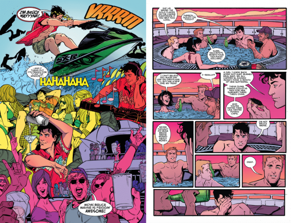 Interiores de Superman: American Alien #3, obra de Joelle Jones