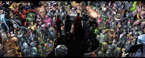 El Sindicato dirigiéndose a los villanos del universo DC