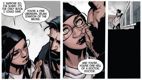 - Eres una buena bibliotecaria, Zelda Stanton del Bronx - Y tú un infierno de doctor, Doctor