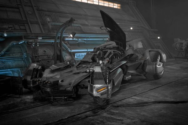 El Batmóvil, en el set de Justice League