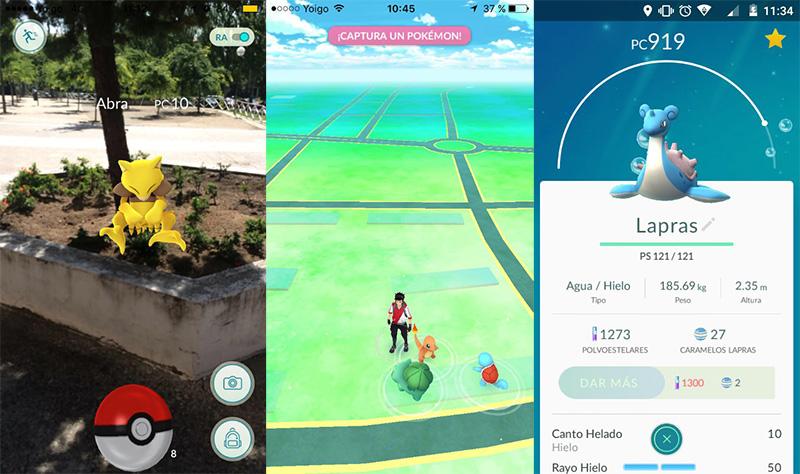 Capturas propias de pantalla de Pokémon GO en iOS y Android