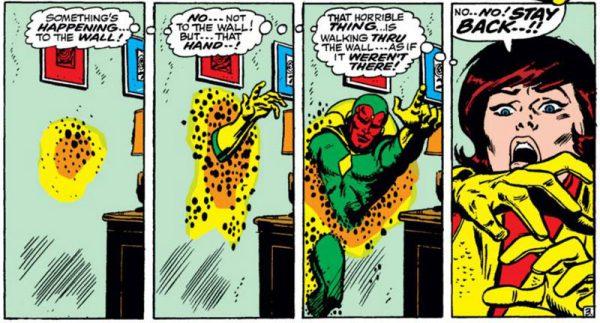 Debut de La visión en Avengers #57 a cargo de John Buscema
