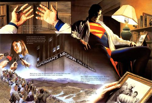 Como siempre, las splash-page de Alex Ross son espectaculares