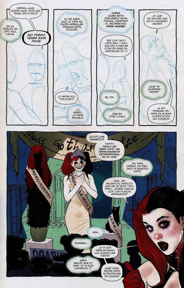 Adam Hughes, Jim Lee y Bruce Timm en Harley Quinn #0