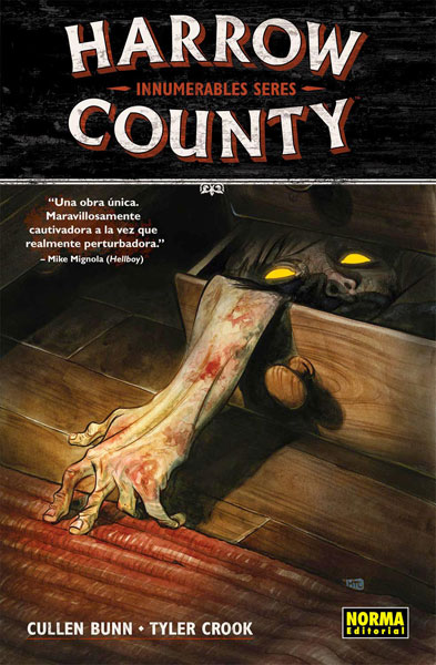 Portada del primer volumen de Harrow County publicado por Norma Editorial