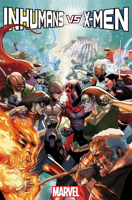 Inhumans vs X-Men portada