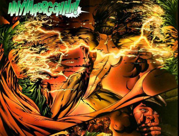 La muerte de la Visión en Avengers Disassembled por David Finch.