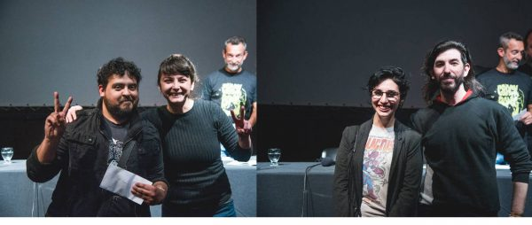 Las duplas ganadoras del Concurso de Historietas  (Fotografía: Carolina Clerici)
