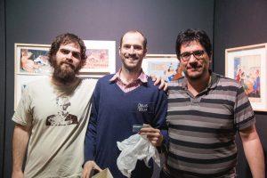 Hotel de las Ideas y Juan Sáenz Valiente, ganadores del Premio Trillo (Fotografía: Carolina Clerici)