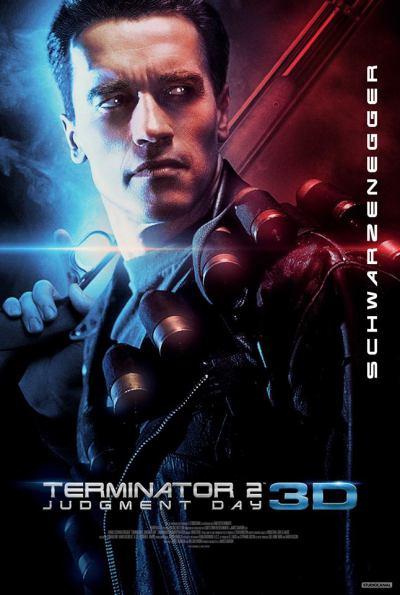 Póster de la versión 3D de Terminator 2: el juicio final