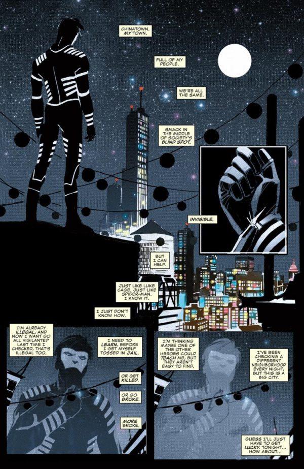 Detalle del trabajo de Ron Garney en Daredevil.